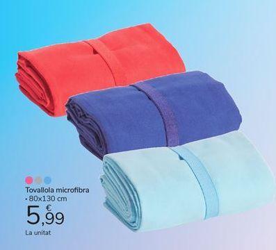 Oferta de Tovallola microfibra por 5,99€
