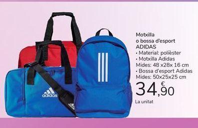 Oferta de Motxilla o bossa d'esport ADIDAS por 34,9€
