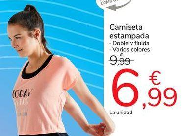Oferta de Camiseta estampada por 6,99€