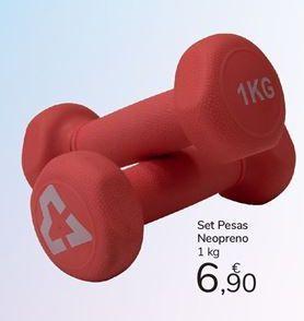 Oferta de Set pesas neopreno carrefour por 6,9€