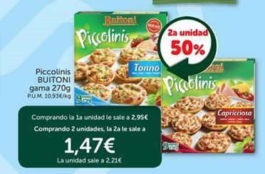 Oferta de Piccolinis Buitoni por 2,21€