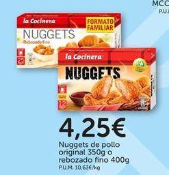 Oferta de Nuggets de pollo La Cocinera por 4,25€