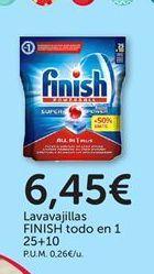 Oferta de Detergente lavavajillas Finish por 6,45€