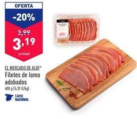 Oferta de Filetes de lomo adobado EL MERCADO DE ALDI por 3,19€