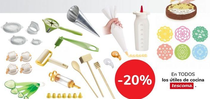 Oferta de En TODOS los útiles de cocina tescoma por