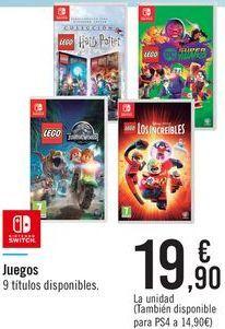 Oferta de Juegos 9 títulos disponibles por 19,9€