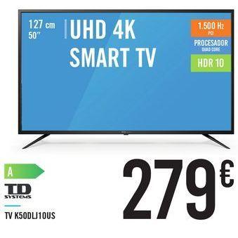 """Oferta de TV UHD 4K SMART TV 50"""" K50DLJ10US por 279€"""