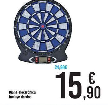 Oferta de Diana electrónica incluye dardos por 15,9€