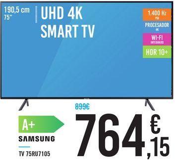 "Oferta de TV UHD 4K SMART TV 75"" 75RU7105 SAMSUNG por 764,15€"