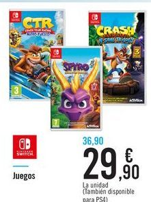 Oferta de Juegos por 29,9€