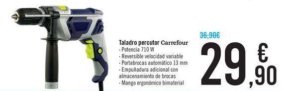 Oferta de Taladro percutor Carrefour  por 29,9€
