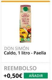 Oferta de Caldo de paella Don Simón por