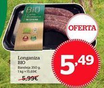 Oferta de Longaniza bio por 5,49€