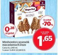 Oferta de Mini bombón caramel & macadamia Häagen-Dazs por 5,49€