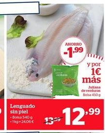 Oferta de Lenguado sin piel por 12,99€