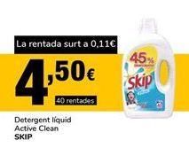 Oferta de Detergente líquido Skip por 4,5€