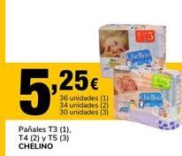 Oferta de Pañales Chelino por 5,25€