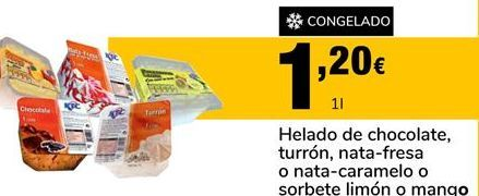 Oferta de Helados por 1,2€