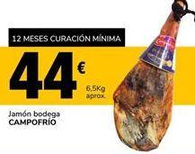 Oferta de Jamón bodega Campofrío por 44€