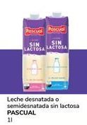 Oferta de Leche sin lactosa Pascual por 0,9€
