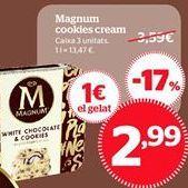 Oferta de Magnum cookies cream por 13,47€