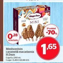 Oferta de Minibombón caramel& macadamia H. Dazs por 1,65€