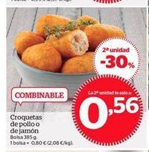 Oferta de Croquetas de pollo o de jamón por 0,8€
