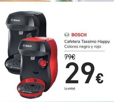 Oferta de Cafetera Tassimo Happy Bosch por 29€