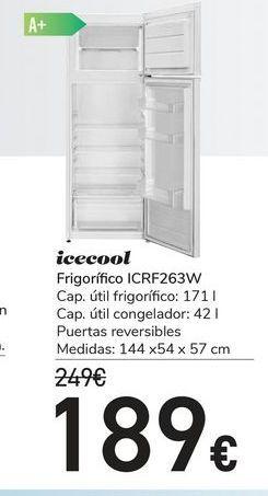 Oferta de Frigorífico ICRF263W icecool por 189€