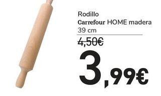 Oferta de Rodillo carrefour HOME madera por 3,99€