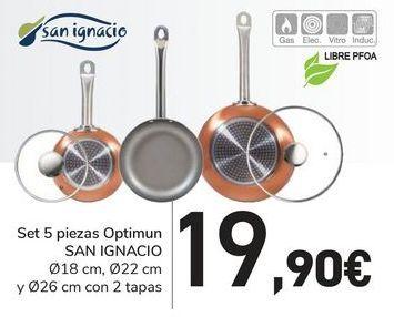 Oferta de Set 5 piezas Optimun San Ignacio por 19,9€