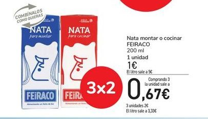 Oferta de Nata montar o cocinar Feiraco por 0,67€