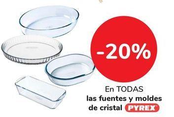 Oferta de En TODAS las fuentes y moldes de cristal Pyrex por