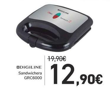 Oferta de Sandwichera GRC6000 Digiline por 12,9€