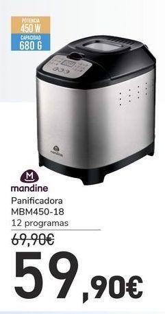 Oferta de Panificadora MBM450-18 Mandine por 59,9€