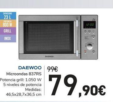 Oferta de Microondas 837RS Daewoo por 79,9€