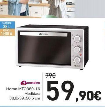 Oferta de Horno MTO380-16 Mandine por 59,9€