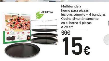 Oferta de Multibandeja de horno para pizzas por 15€