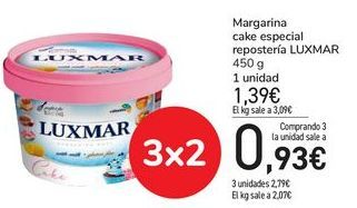 Oferta de Margarina cake especial repostería LUXMAR por 0,93€