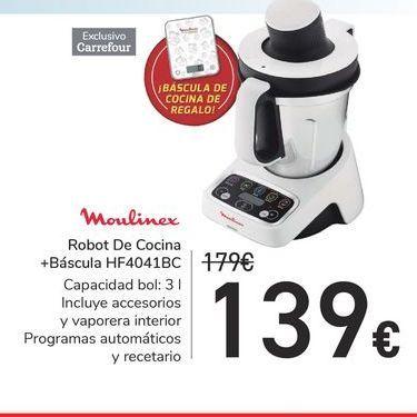 Oferta de Robot de Cocina + Báscula HF4041BC Moulinex por 139€