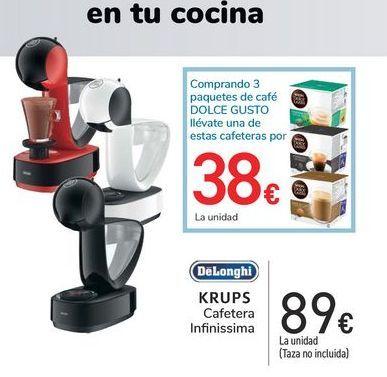 Oferta de Krups Cafetera Infinissima DeLonghi por 89€