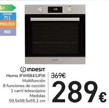 Oferta de Horno IFW6841JPIX  Indesit por 289€