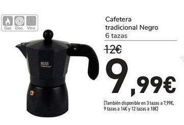 Oferta de Cafeteras Tradicional negro por 9,99€