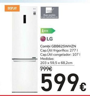 Oferta de Combi GBB62SWHZN LG por 599€
