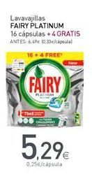 Oferta de Detergente en cápsulas Fairy por 5,29€