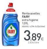 Oferta de Detergente lavavajillas Fairy por 3,89€