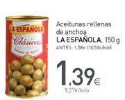 Oferta de Aceitunas rellenas de anchoa La Española por 1,39€