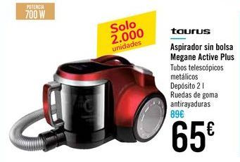 Oferta de Aspirador sin bolsa Megane Active Plus Taurus por 65€