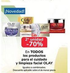 Oferta de EN TODOS los productos para el cuidado y limpieza facial Olay por