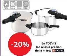 Oferta de En TODAS Las ollas a presión de la marca MONIX  por